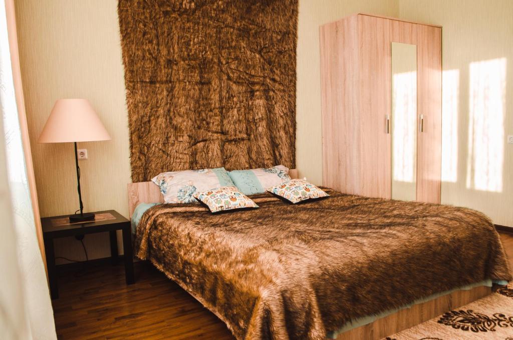 Кровать или кровати в номере 1-комн. квартира