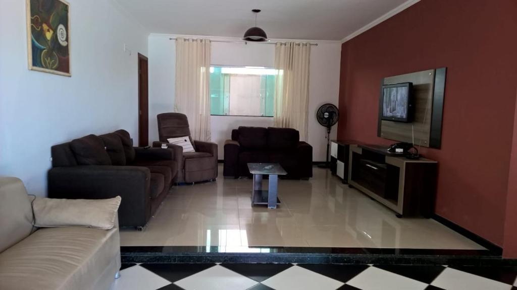 A seating area at Casa de Praia