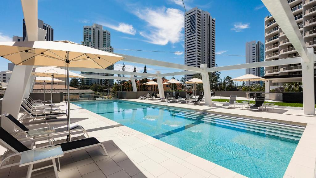 The swimming pool at or near Avani Broadbeach Residences