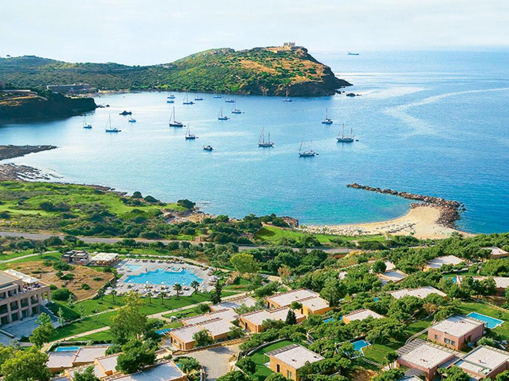 A bird's-eye view of Cape Sounio, Grecotel Exclusive Resort