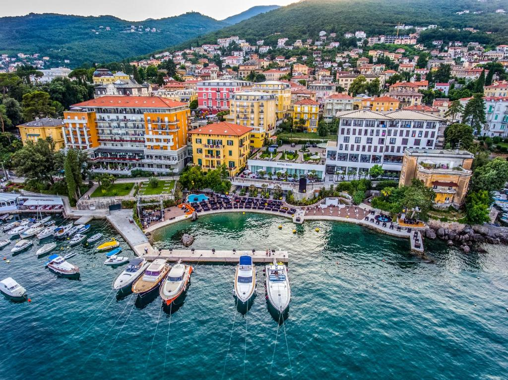 A bird's-eye view of Amadria Park Grand Hotel 4 Opatijska Cvijeta