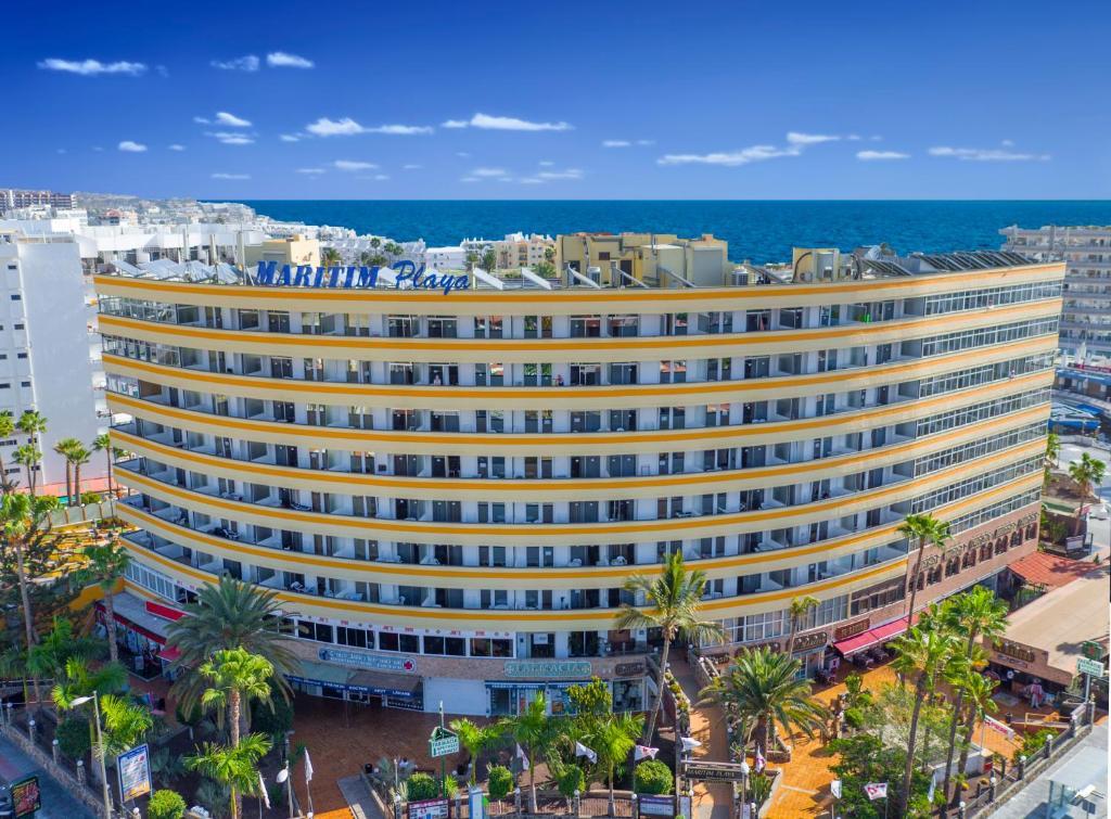 Een luchtfoto van Maritim Playa