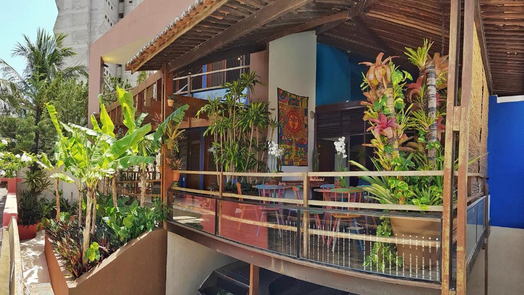 A balcony or terrace at Pousada Natal Paradise