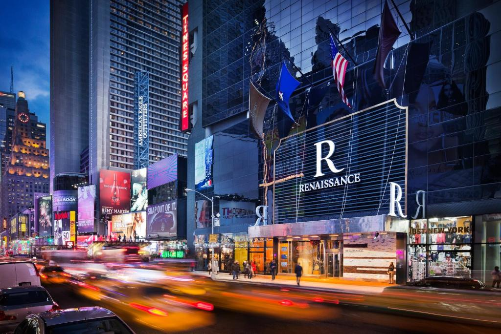 The Renaissance New York Times Square Hotel.