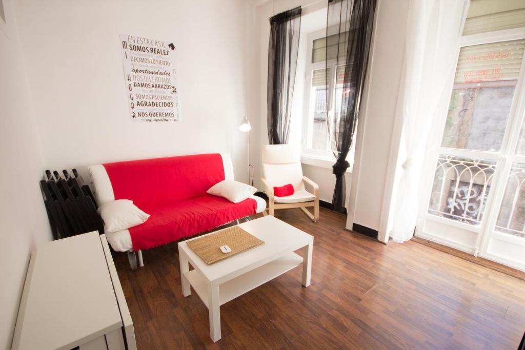 A seating area at Apartment Rua Alta