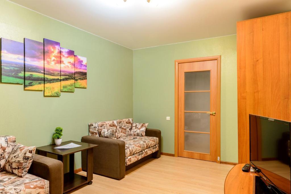 Гостиная зона в Apartment TwoPillows on Lomonosova 9