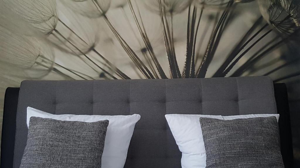 Ein Bett oder Betten in einem Zimmer der Unterkunft Hotel Werratal