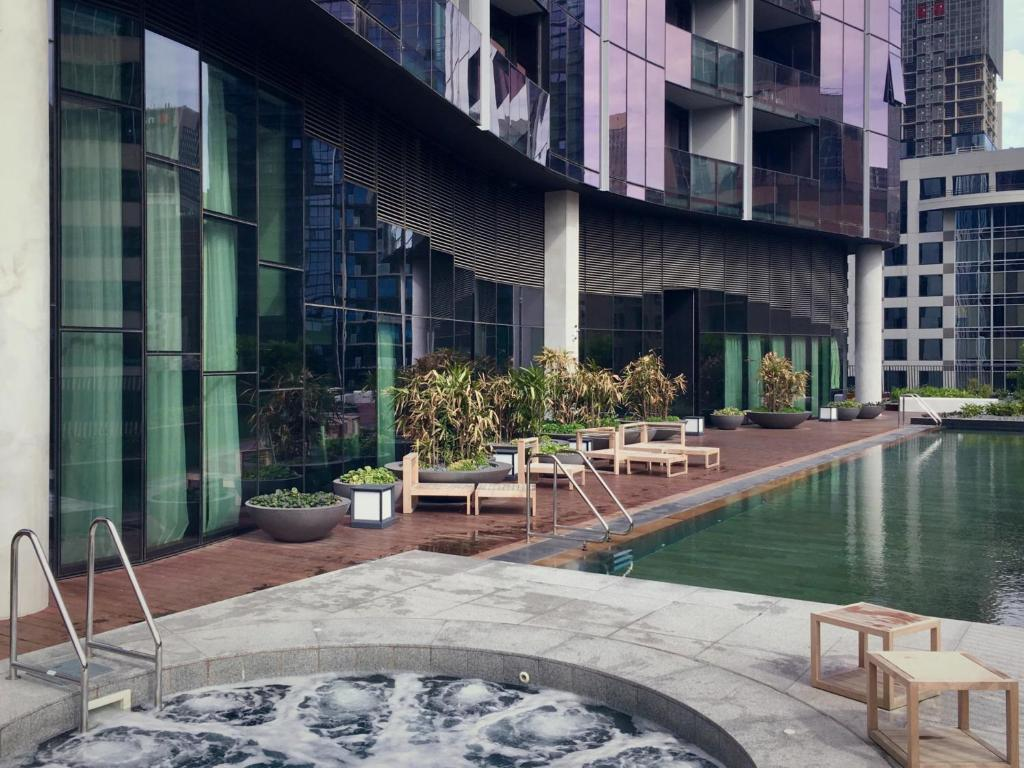 The swimming pool at or near Luxury CBD - Pool, Gym and Spa