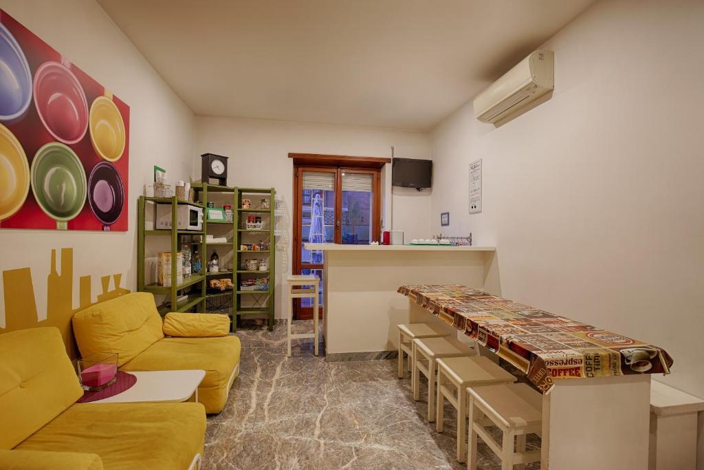 Een zitgedeelte bij Pascià Room & Breakfast