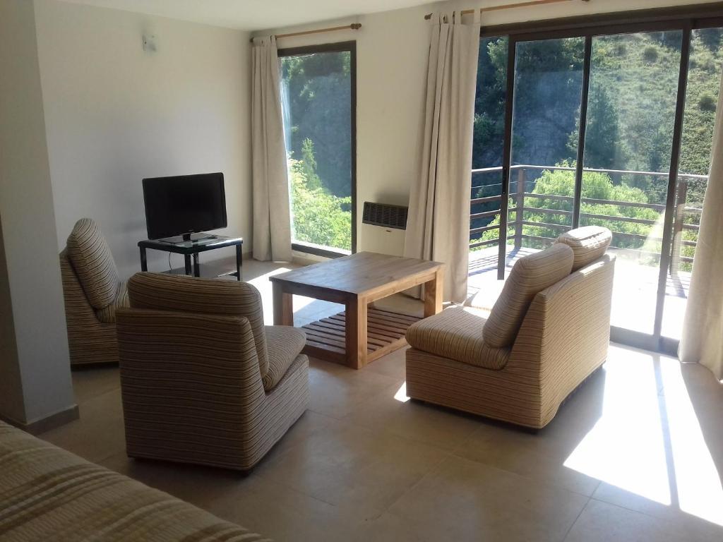 Un lugar para sentarse en Casa en La Cumbrecita