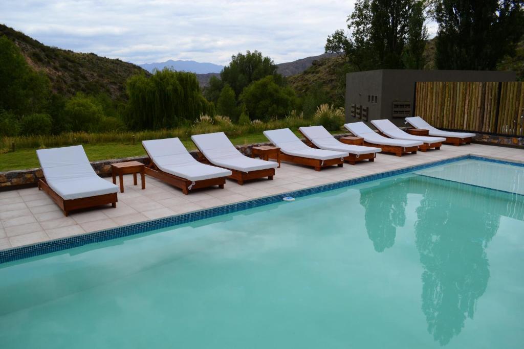 The swimming pool at or near Posada del Blanco