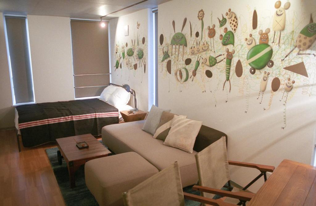 Art Apartment AOCA Sanno ARMYにあるシーティングエリア