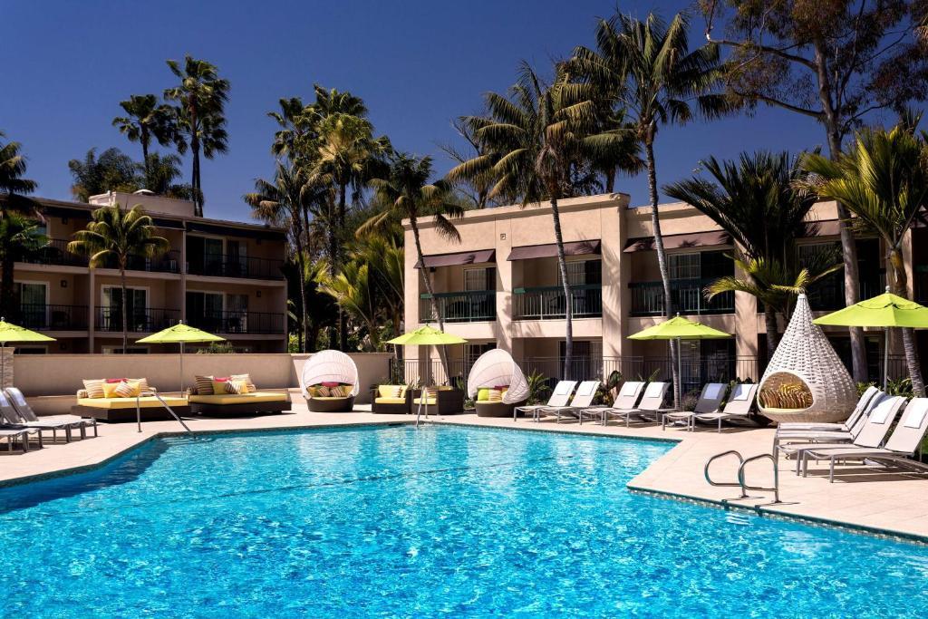 The swimming pool at or near Hyatt Regency Newport Beach