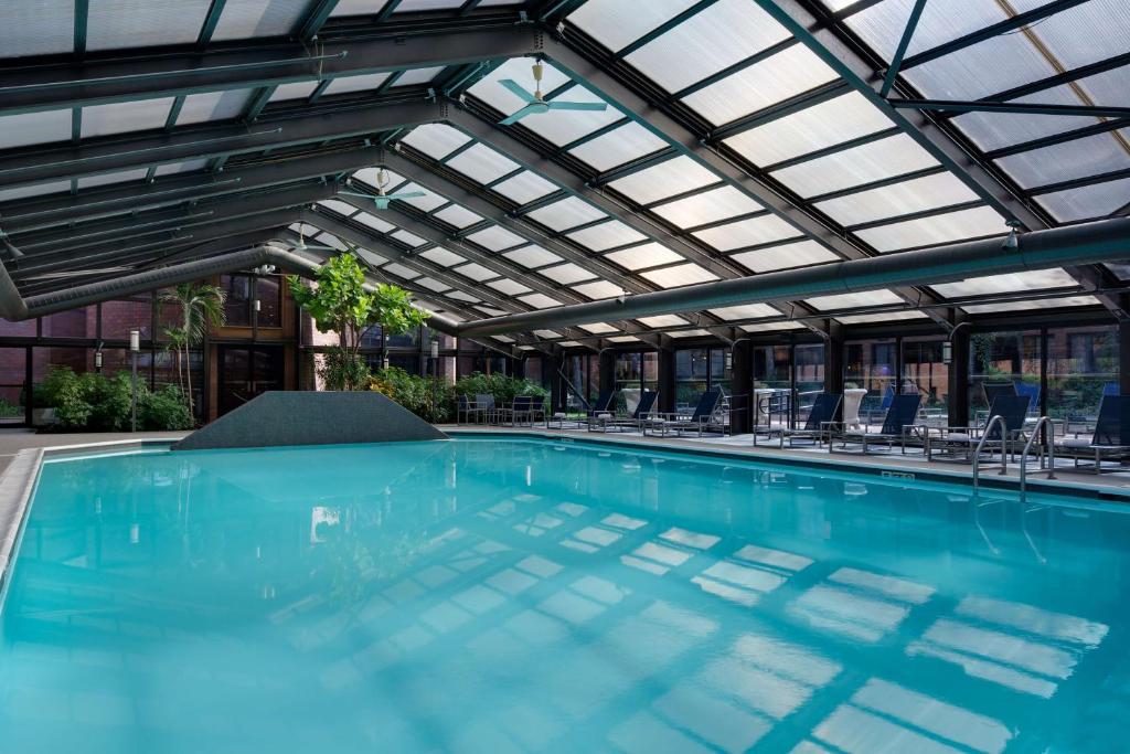 The swimming pool at or near Hyatt Regency Princeton