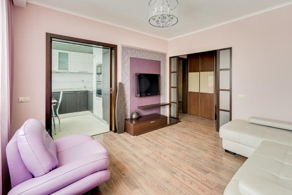 Гостиная зона в Апартаменты Рай