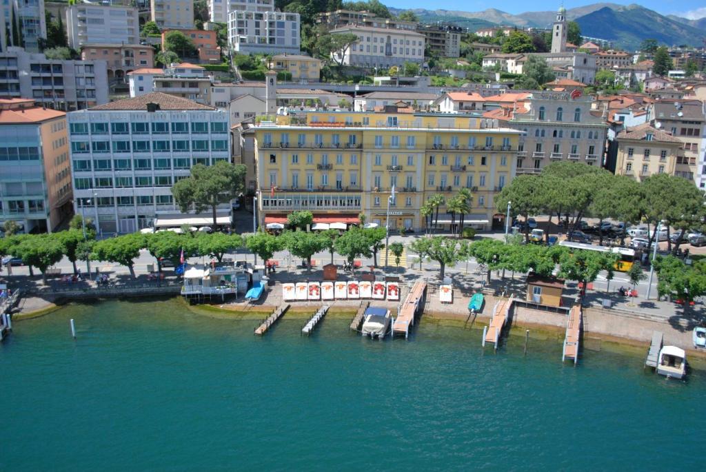 Blick auf Hotel Walter Au Lac aus der Vogelperspektive