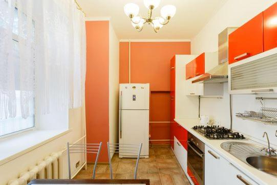 A kitchen or kitchenette at Business Brusnika Belorusskaya