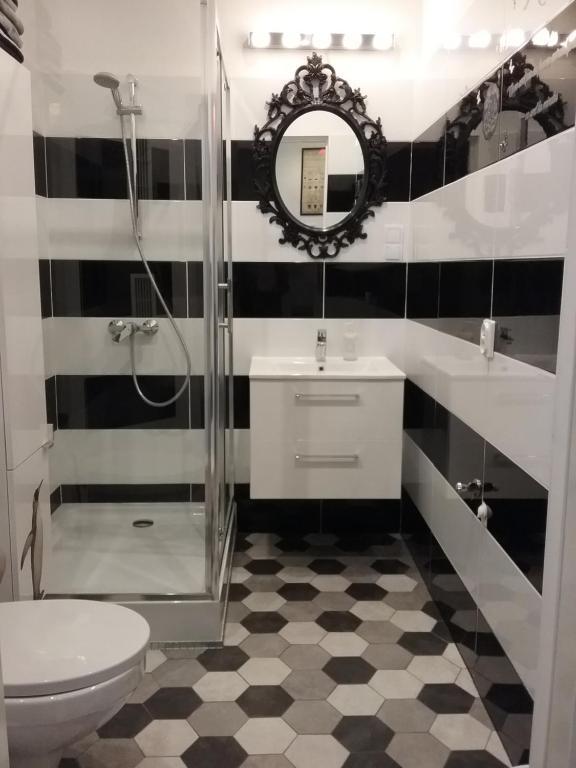 Łazienka w obiekcie VINTAGE - ROSE APARTAMENT