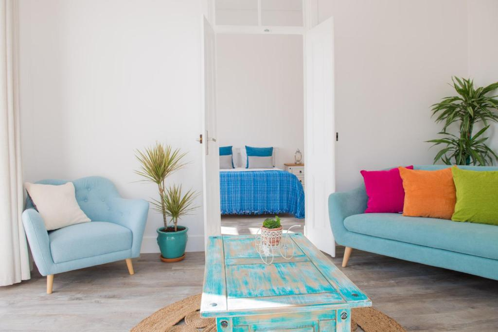 Uma área de estar em Dream Residence
