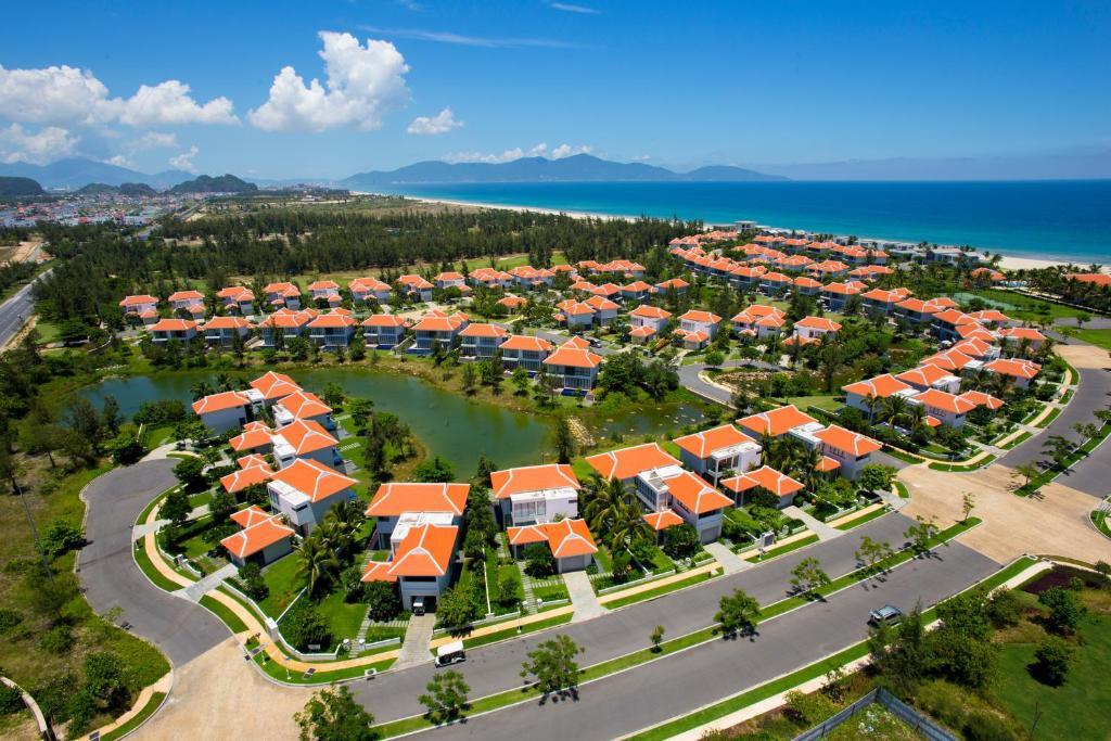 Blick auf The Ocean Villas aus der Vogelperspektive