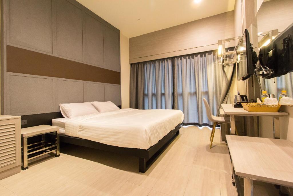Un ou plusieurs lits dans un hébergement de l'établissement Lazy Sunday hostel