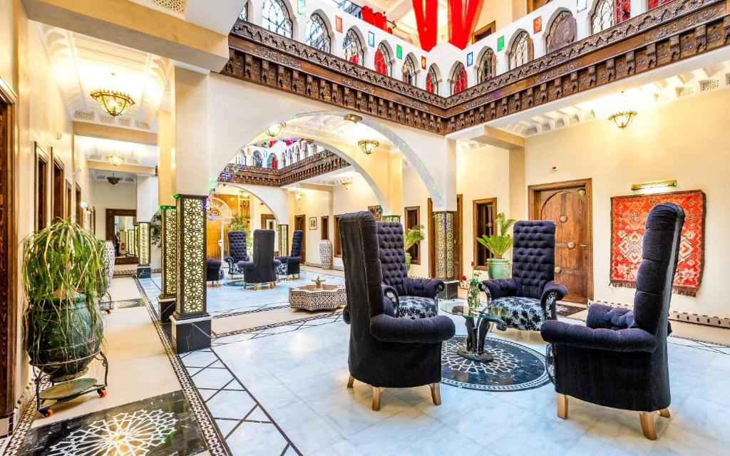The lobby or reception area at Hotel & Ryad Art Place Marrakech
