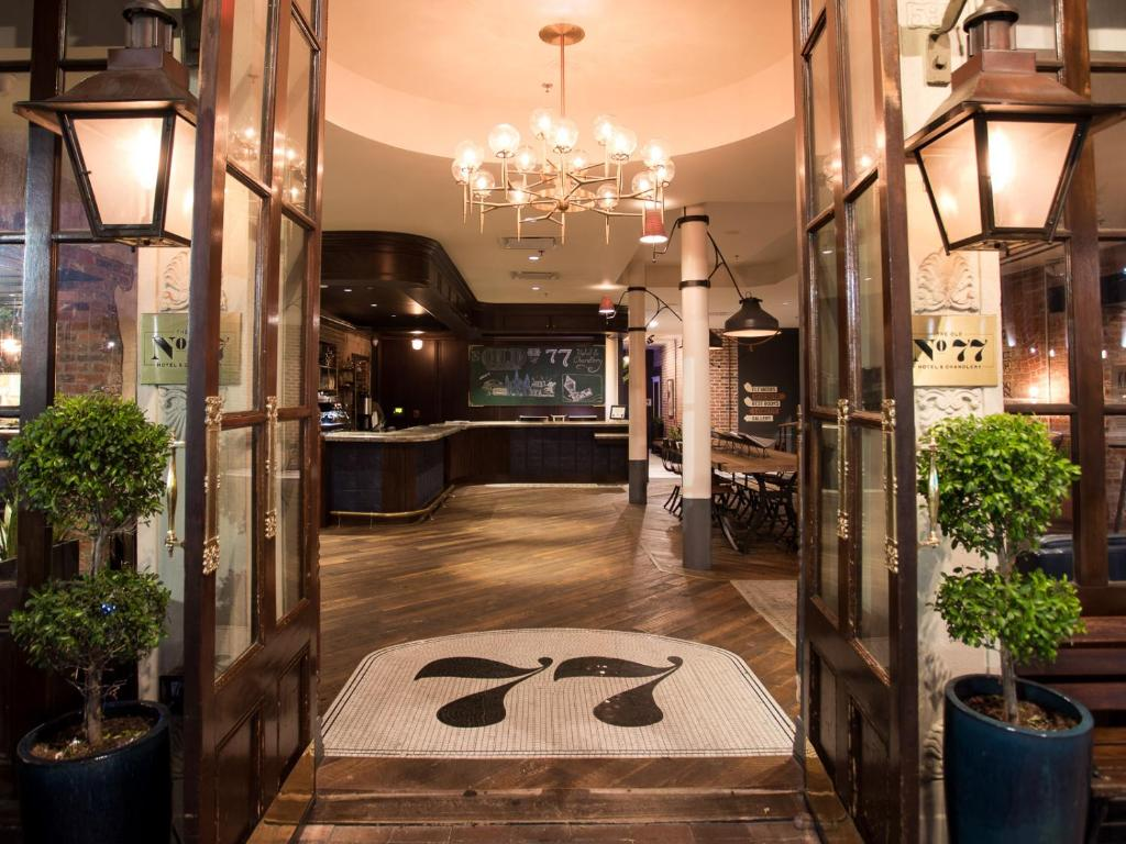 The lobby or reception area at The Old No. 77 Hotel & Chandlery