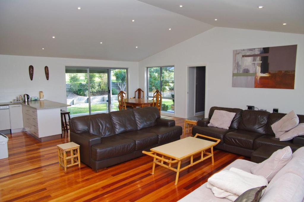 A seating area at Banyula, 103 Neville Morton Drive