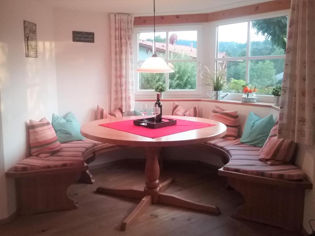 Ein Sitzbereich in der Unterkunft HOME4GOLF Uttlau
