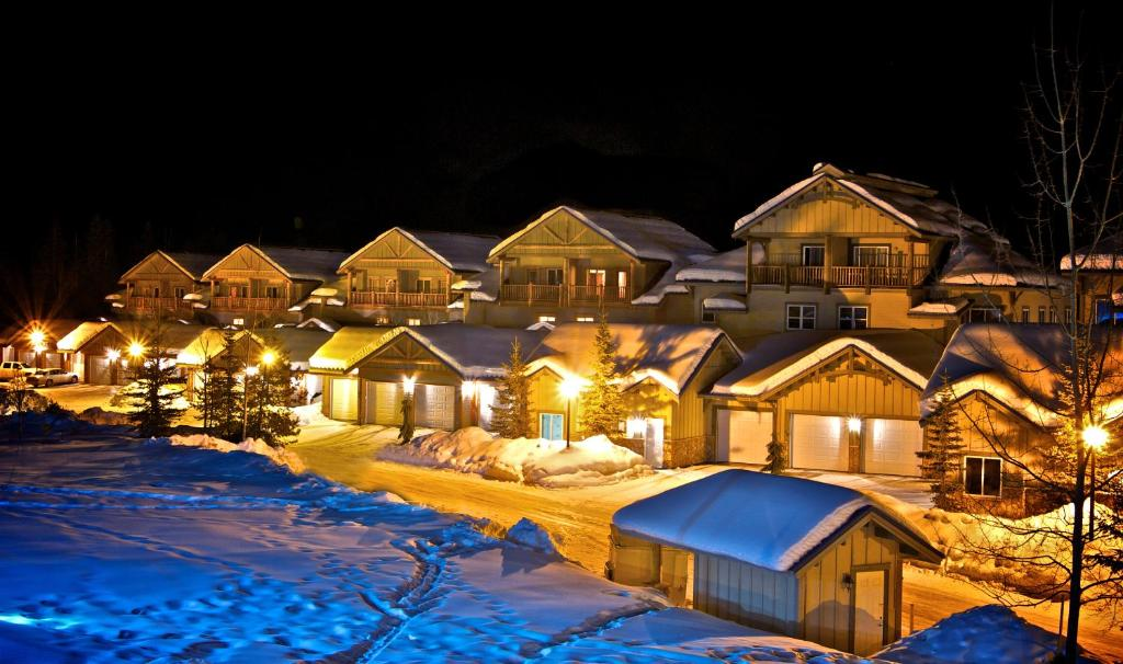 Northstar Mountain Village during the winter