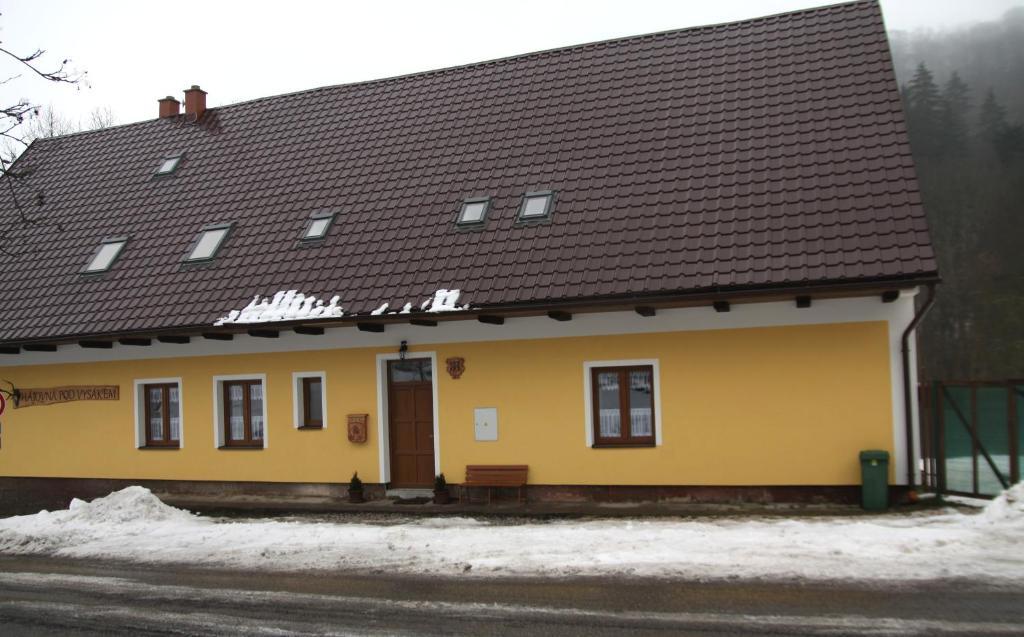 apartmány pod Vysákem during the winter