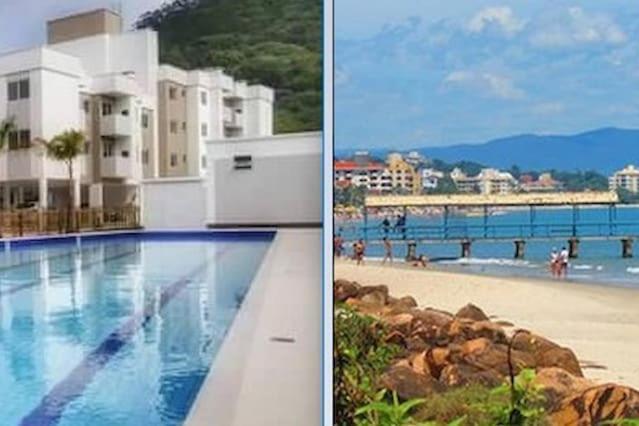 Apartamento na praia de Canasvieiras com wifi, piscinas e ar condicionado nos quartos.