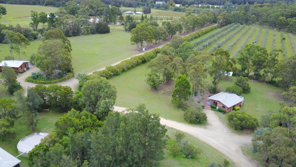 A bird's-eye view of Twin Trees Country Cottages