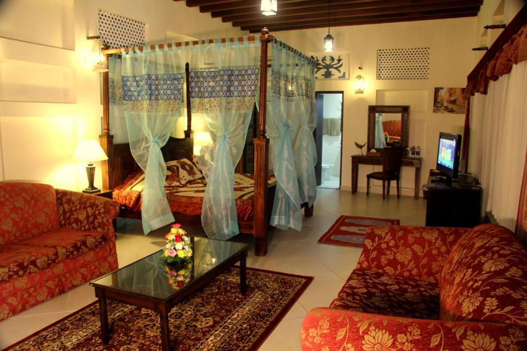 A seating area at Ahmedia Heritage Guesthouse