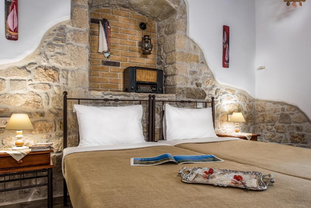 A bed or beds in a room at Cretan Villa