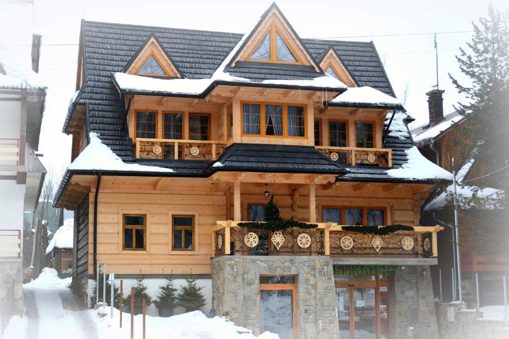 Obiekt Willa Waja zimą