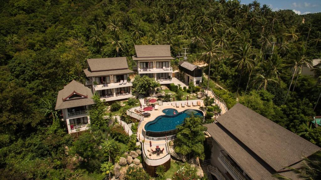 A bird's-eye view of Koh Phangan Pavilions
