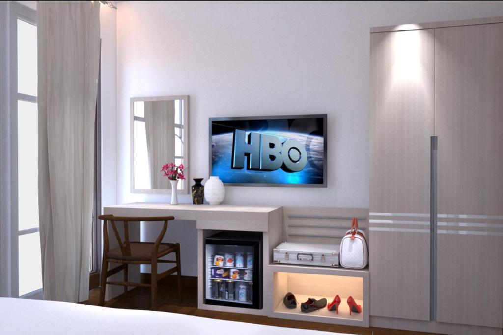 TV/trung tâm giải trí tại Vanilla Home Sweet Home