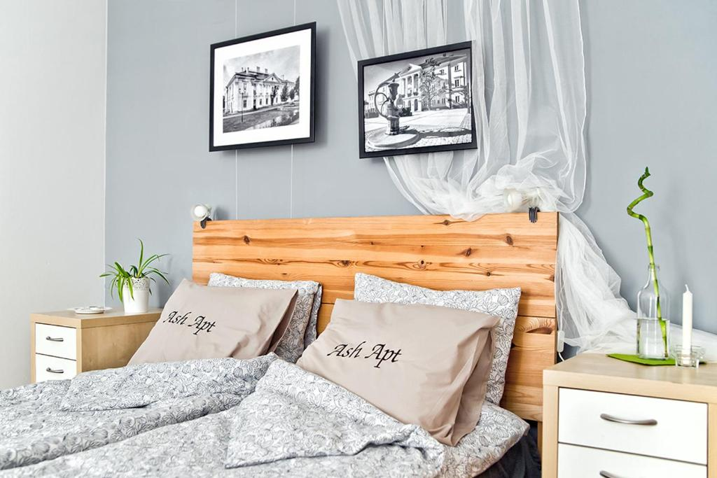 Posteľ alebo postele v izbe v ubytovaní Ash Apartment
