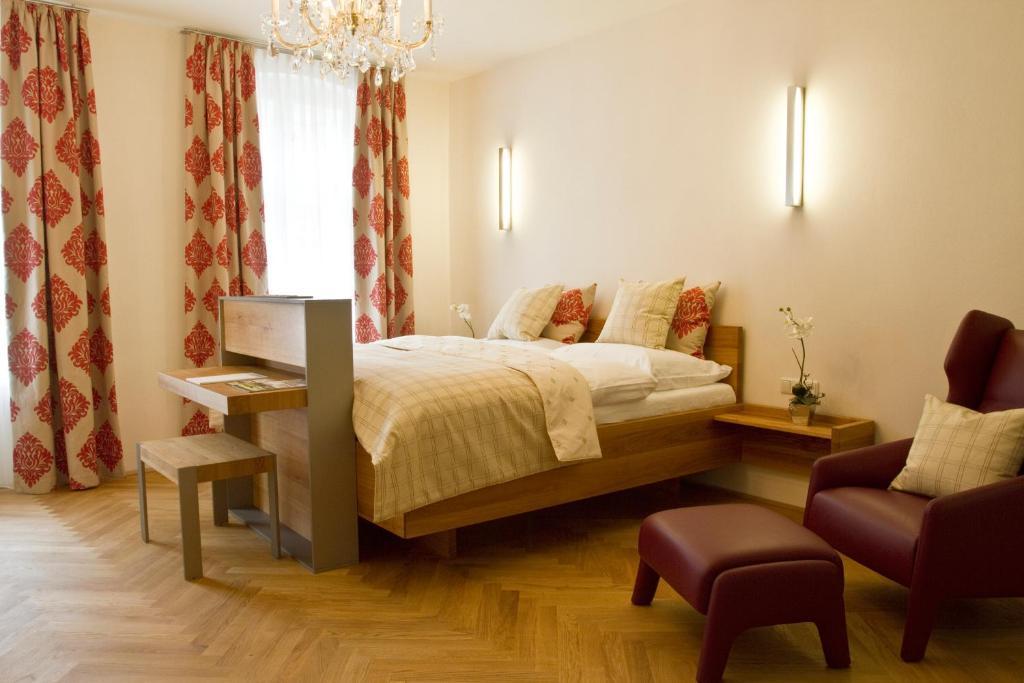 Ein Bett oder Betten in einem Zimmer der Unterkunft Vierzigerhof