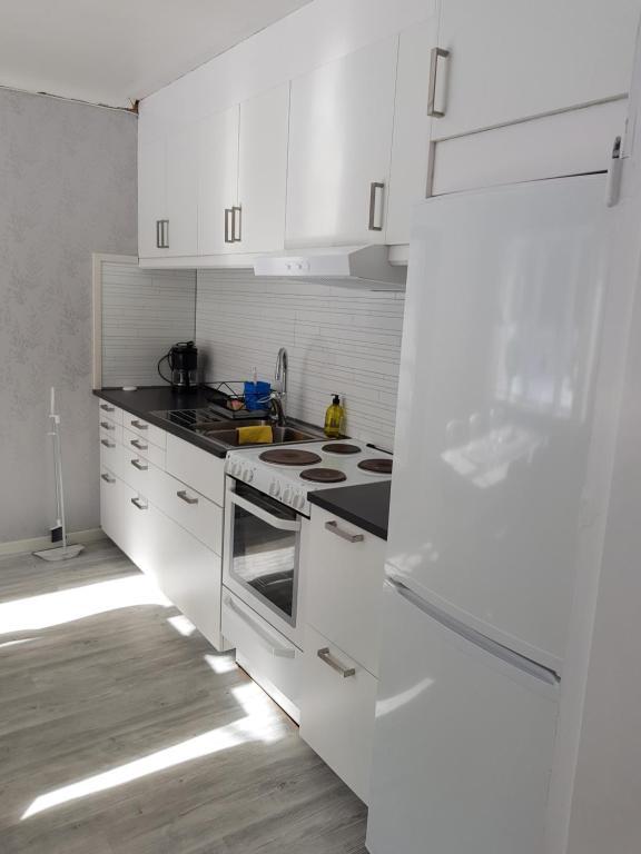 A kitchen or kitchenette at Voxnabruks Kanot & Camping