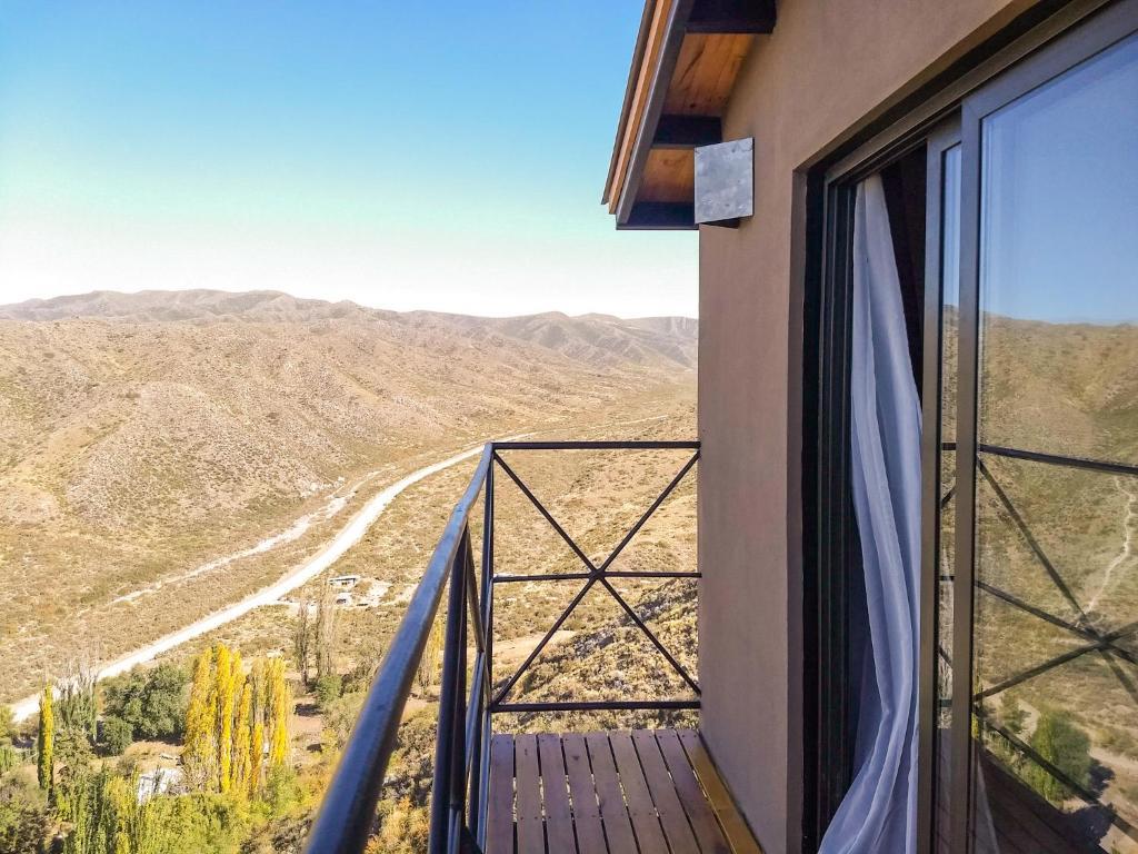 A balcony or terrace at ArribadelValle - Casas de Altura