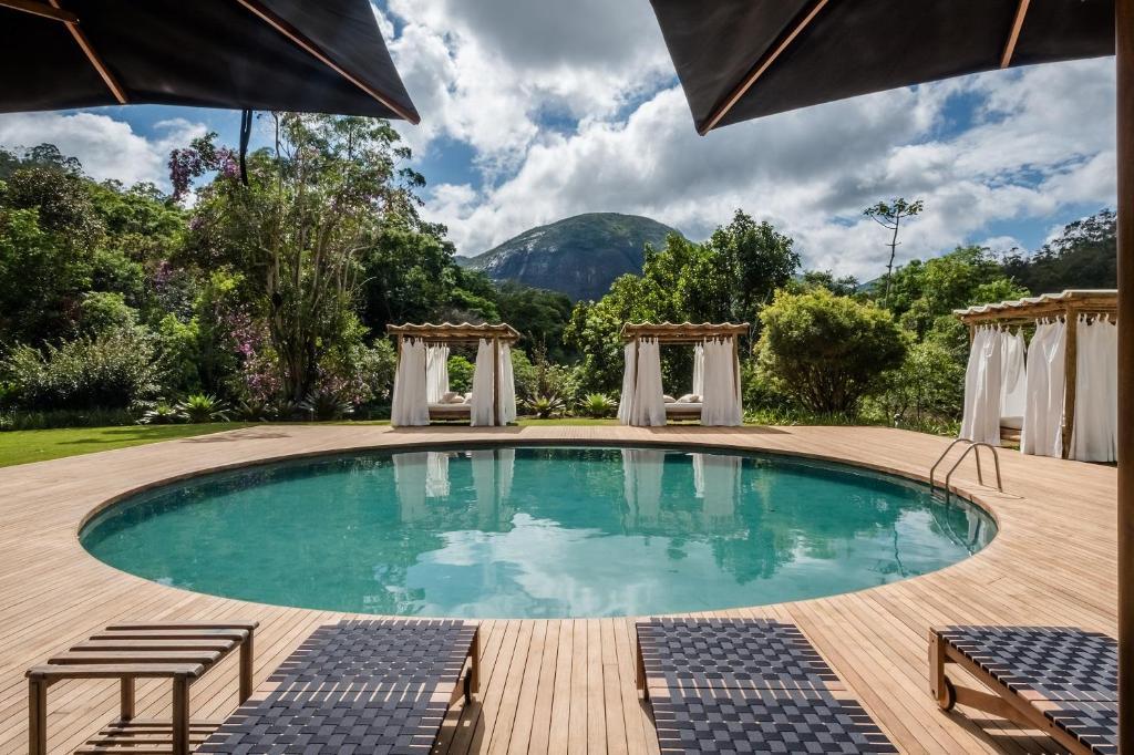 The swimming pool at or close to Pousada Tankamana