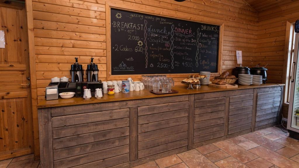 A kitchen or kitchenette at Volcano Huts Þórsmörk