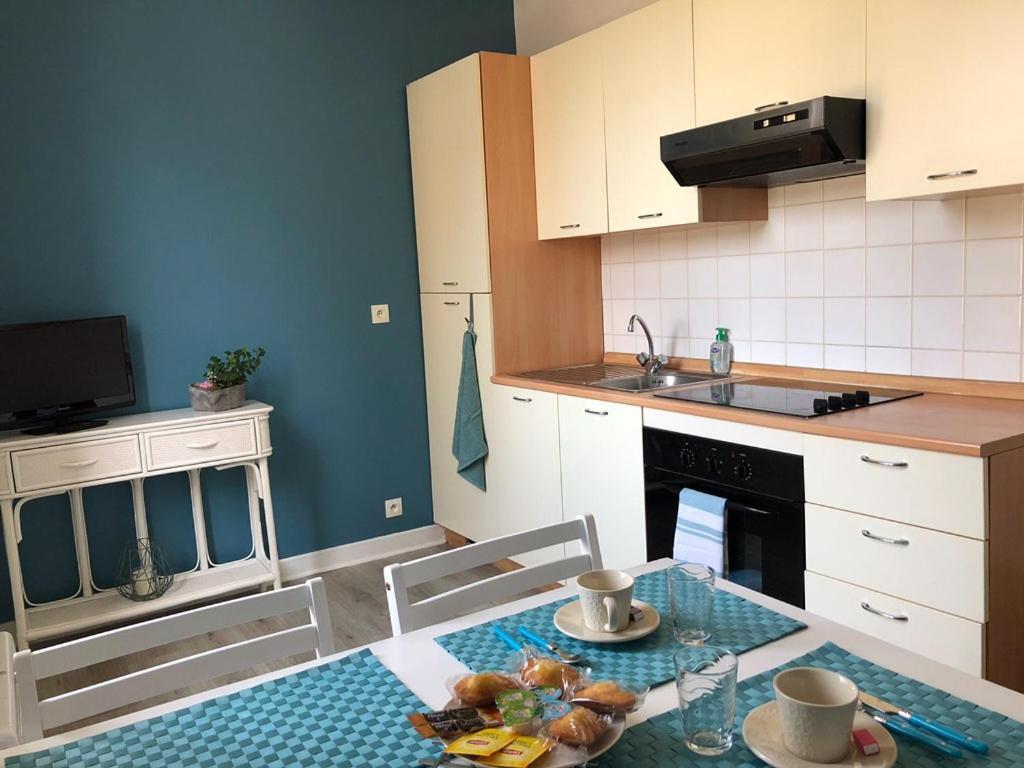 Cuisine ou kitchenette dans l'établissement Le petit Bailleux