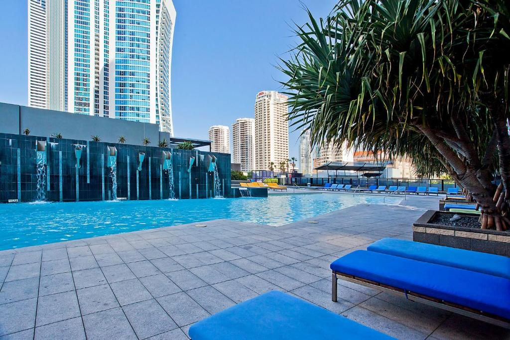 The swimming pool at or near Circle on Cavill, Apartments and Sub Penthouses - We Accommodate