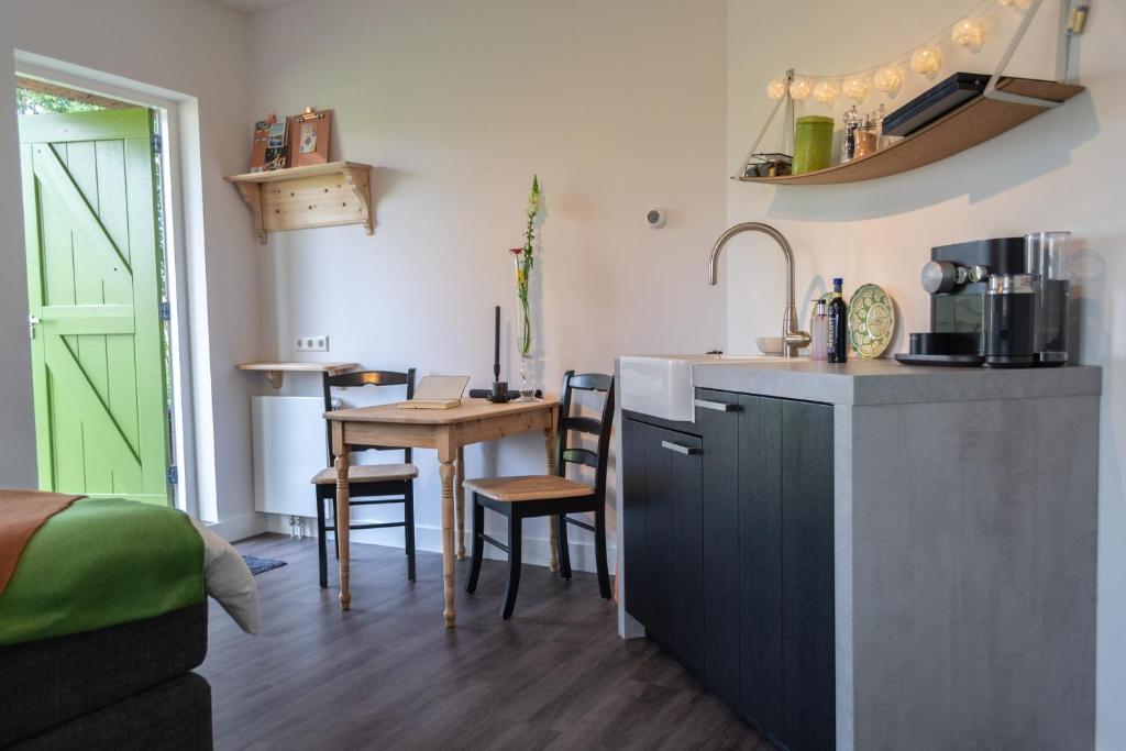 Een keuken of kitchenette bij 't Rheebokje