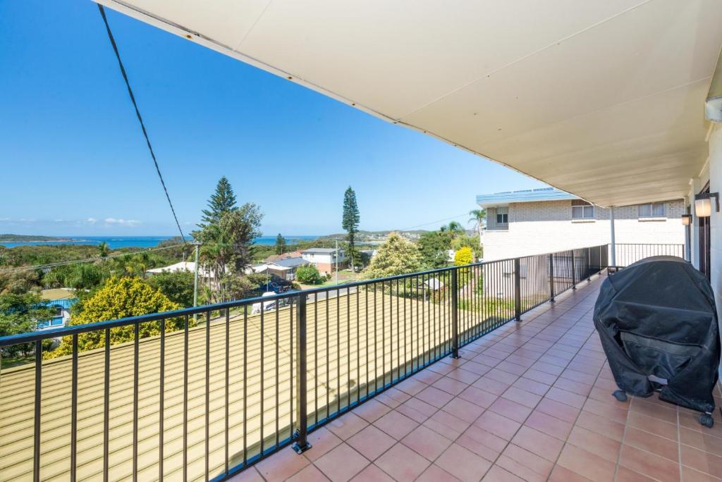 A balcony or terrace at Lentara St 12 - Fingal Bay