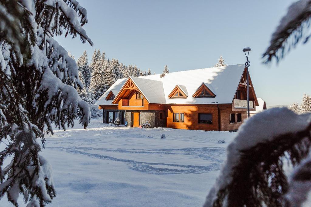 Villa Silvia v zimě