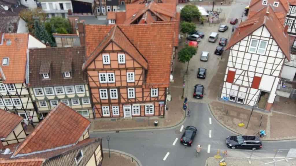 Blick auf Hotel Village aus der Vogelperspektive
